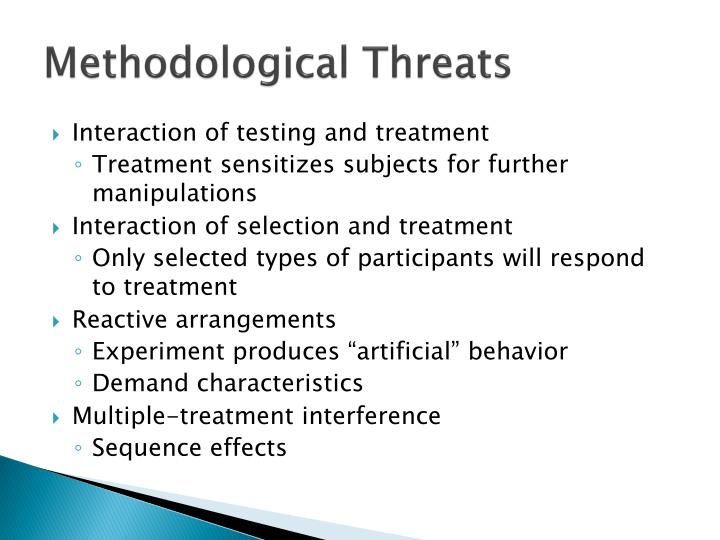 Methodological Threats