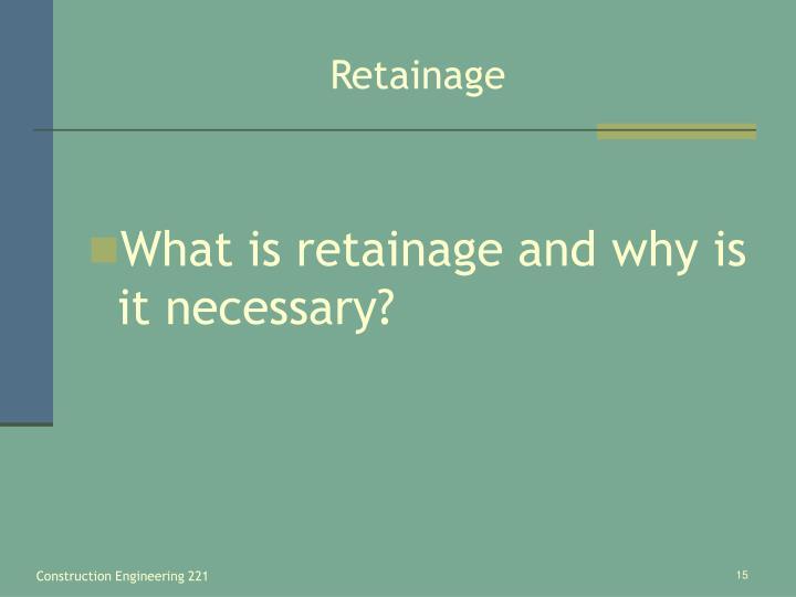 Retainage