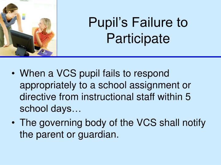 Pupil's Failure to Participate