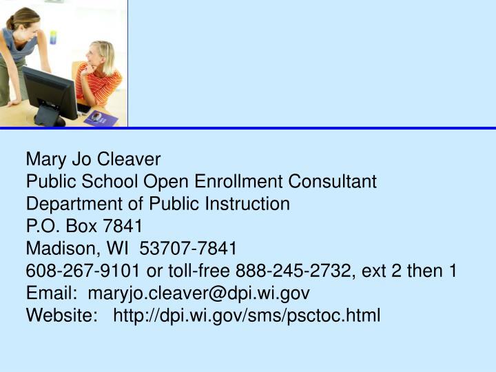 Mary Jo Cleaver