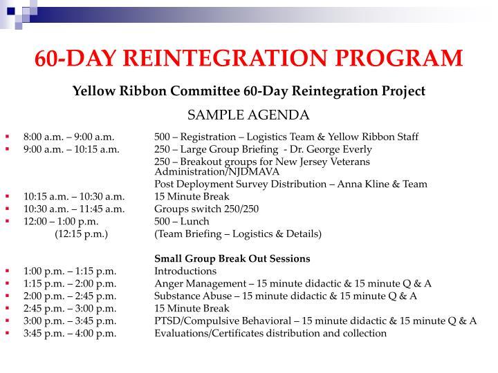 60-DAY REINTEGRATION PROGRAM
