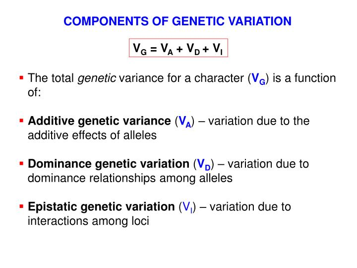 COMPONENTS OF GENETIC VARIATION