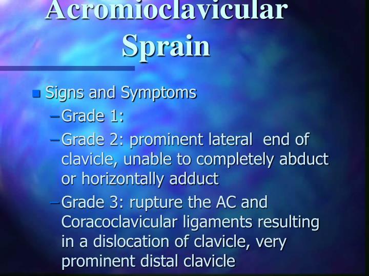 Acromioclavicular Sprain
