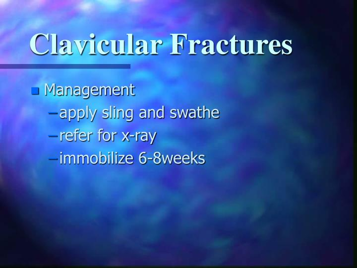 Clavicular Fractures