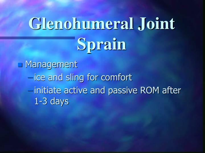 Glenohumeral Joint Sprain