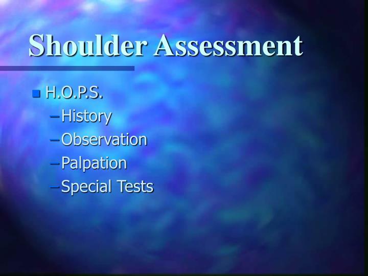 Shoulder Assessment