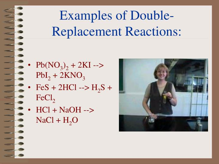 Examples of Double-Replacement Reactions: