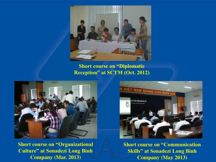 "Short course on ""Communication Skills"" at Sonadezi Long Binh Company (May 2013)"