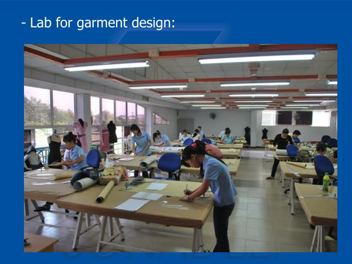 Lab for garment design: