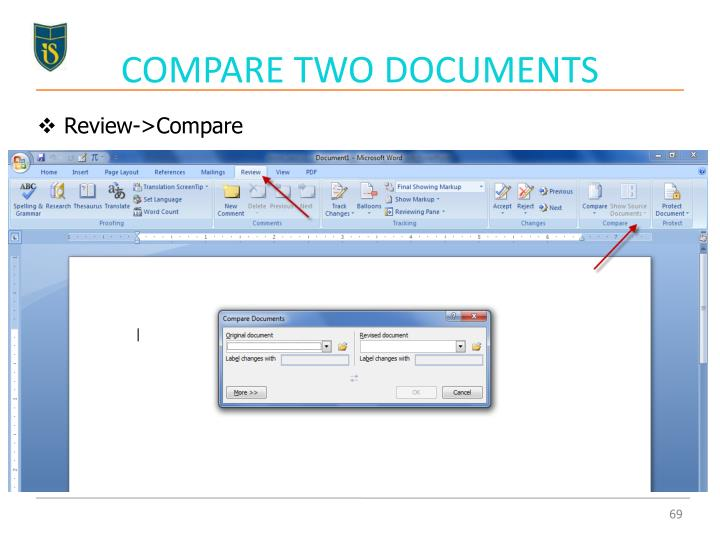COMPARE TWO DOCUMENTS