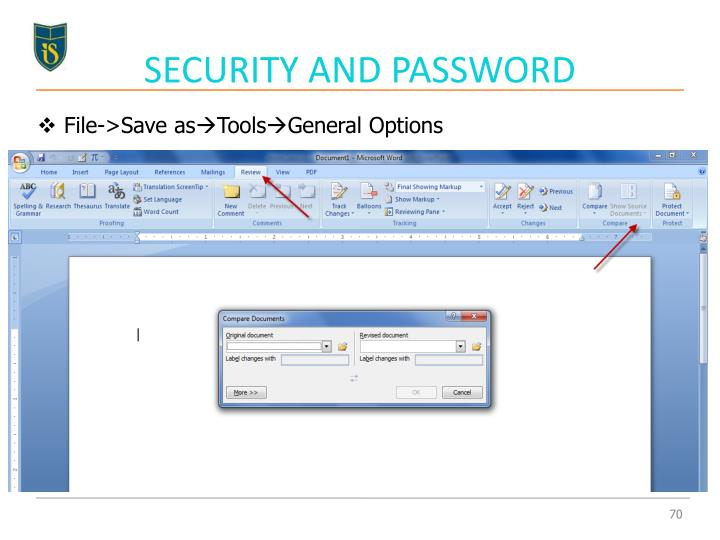 SECURITY AND PASSWORD