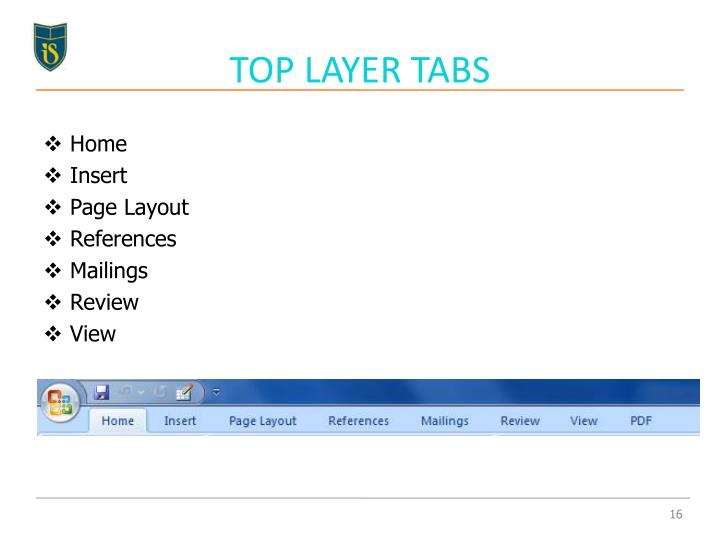 TOP LAYER TABS