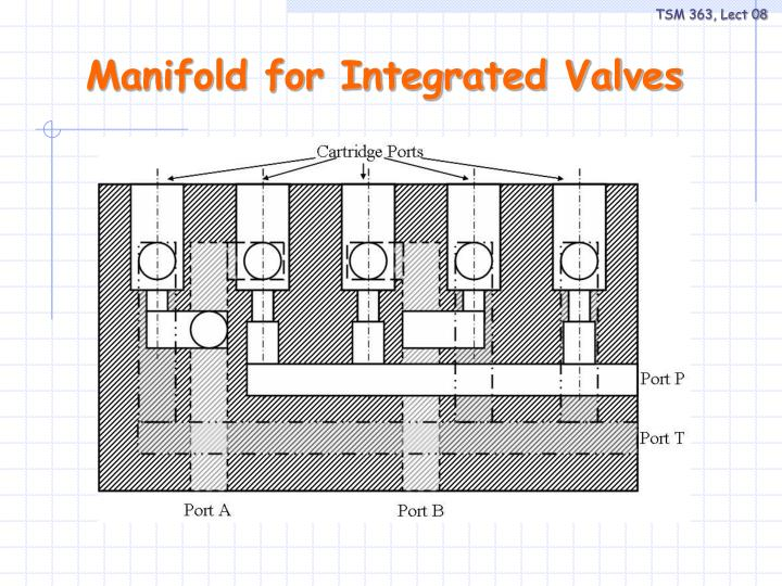 Manifold for Integrated Valves