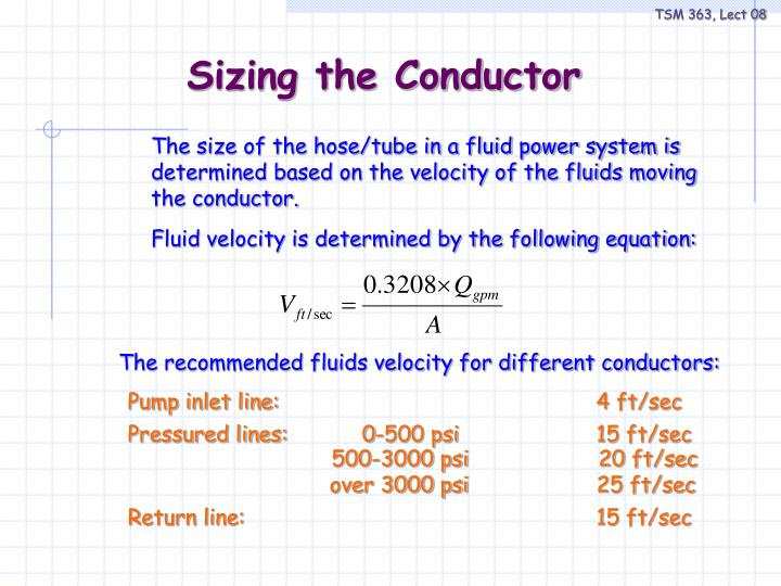 Fluid velocity is determined by the following equation: