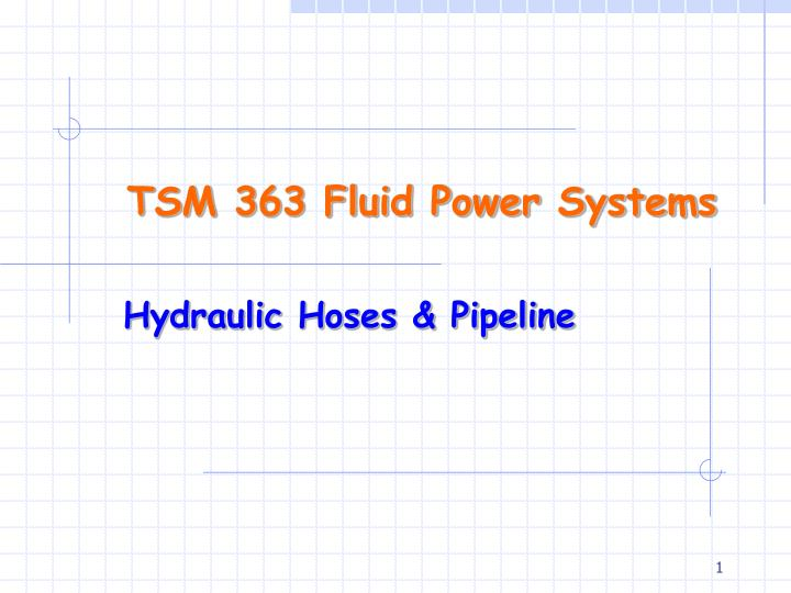 Tsm 363 fluid power systems