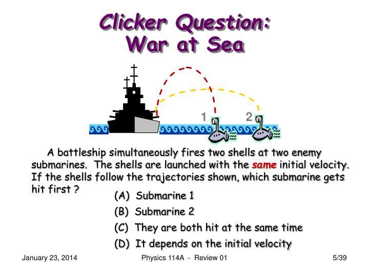 Clicker Question: