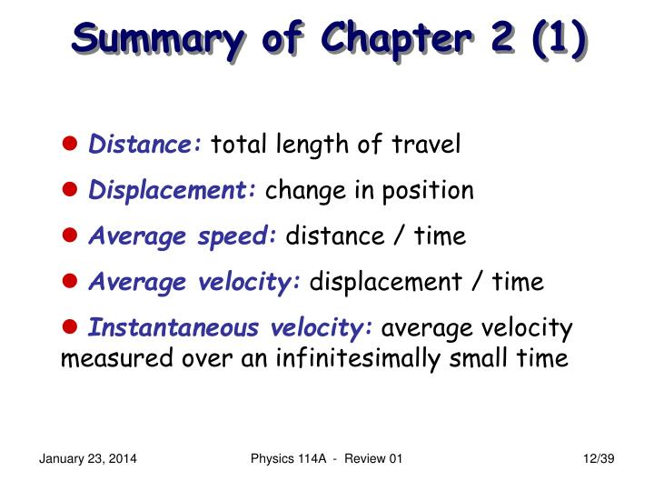 Summary of Chapter 2 (1)