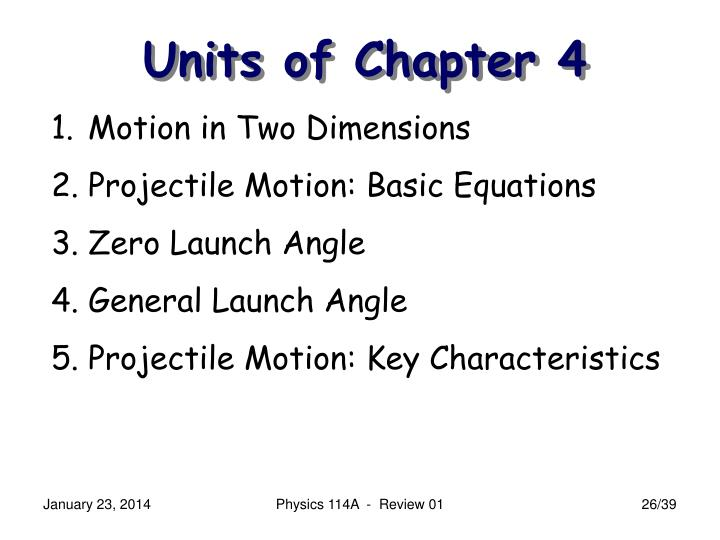 Units of Chapter 4