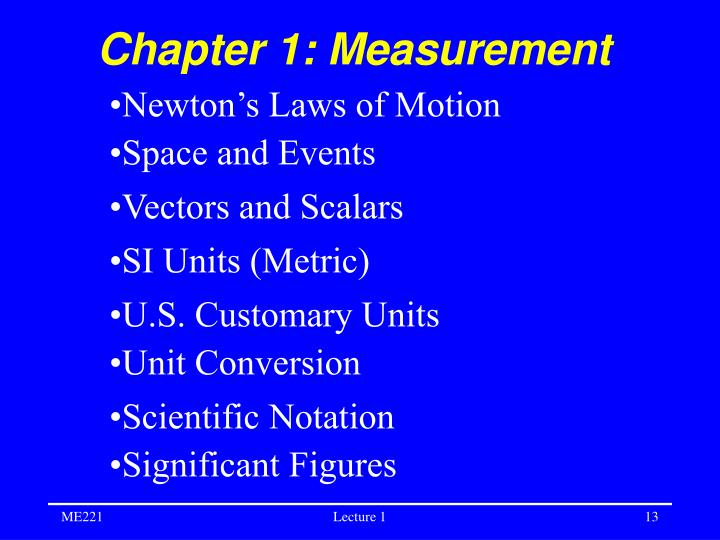 Chapter 1: Measurement