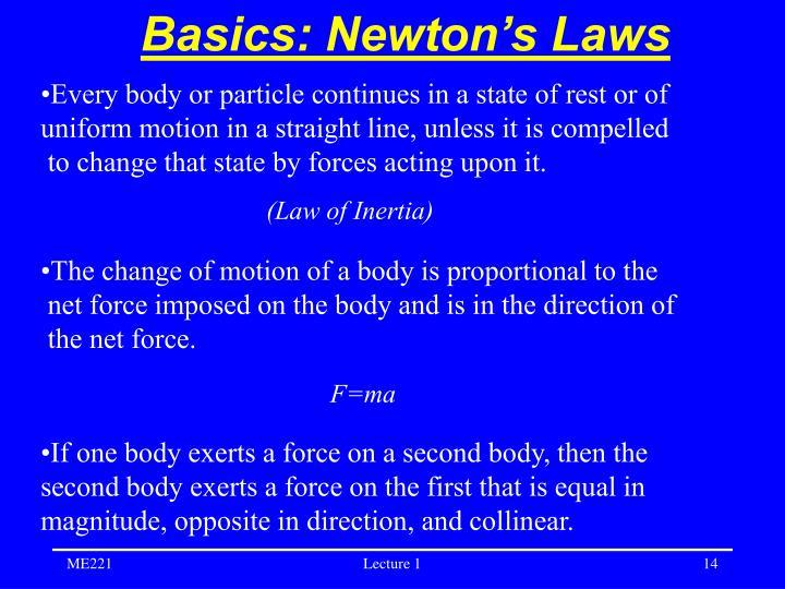 Basics: Newton's Laws