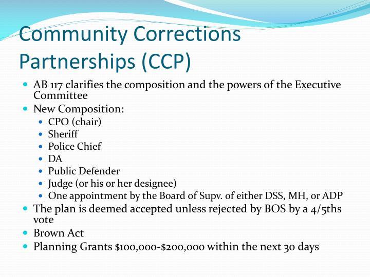 Community Corrections Partnerships (CCP)