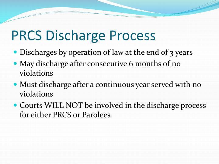 PRCS Discharge Process