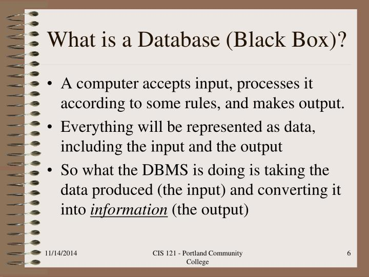 What is a Database (Black Box)?