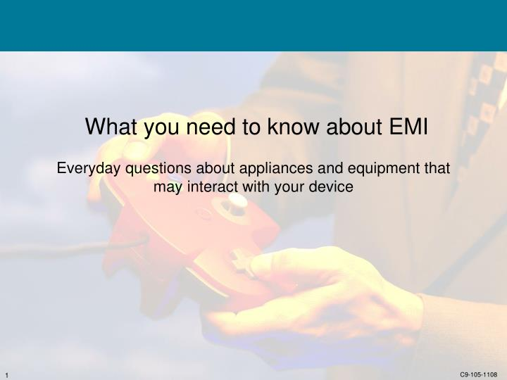 What you need to know about EMI