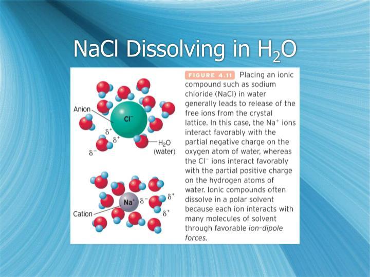 NaCl Dissolving in H