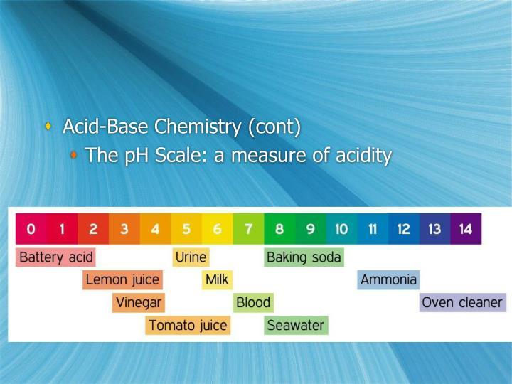 Acid-Base Chemistry (cont)