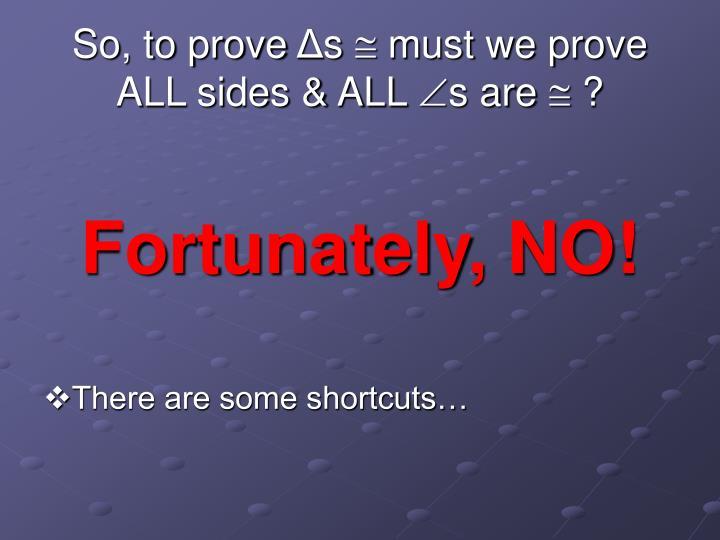 So, to prove