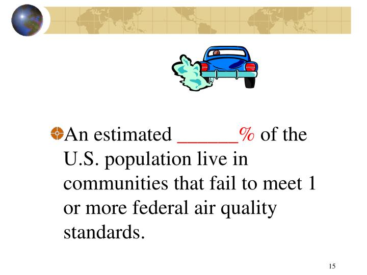 An estimated