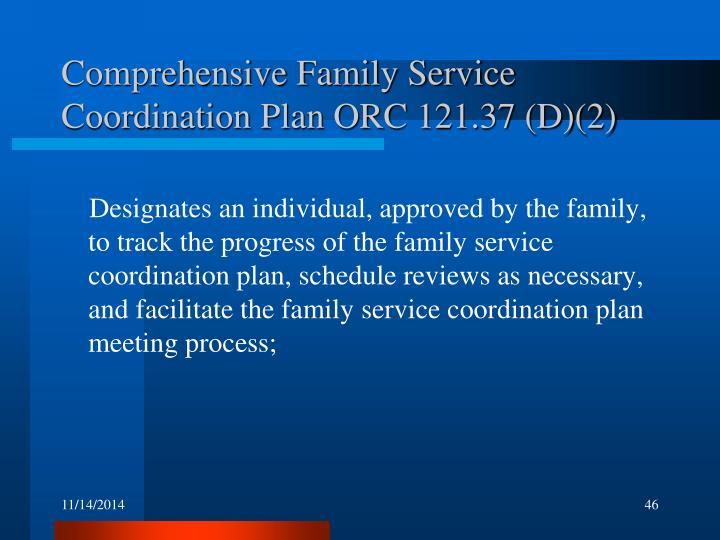 Comprehensive Family Service Coordination Plan ORC 121.37 (D)(2)