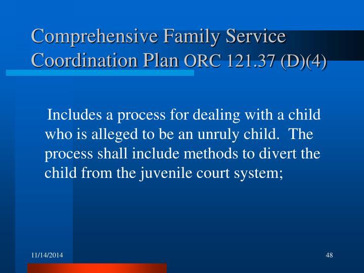 Comprehensive Family Service Coordination Plan