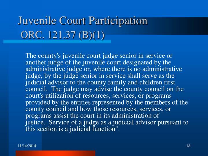 Juvenile Court Participation