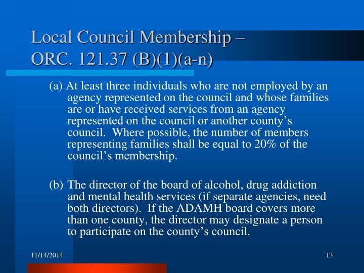 Local Council Membership –