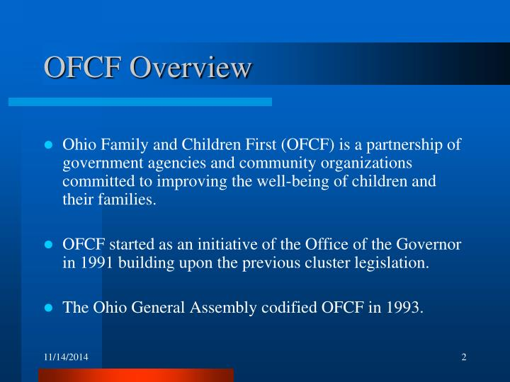 OFCF Overview
