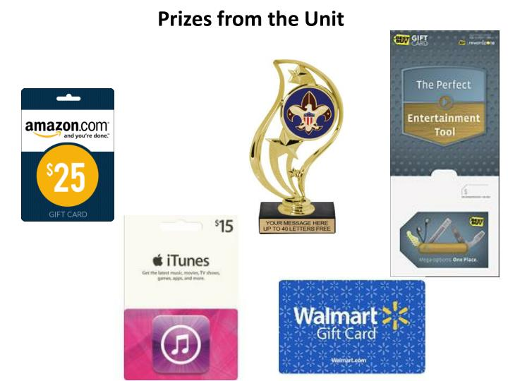 Prizes from the Unit