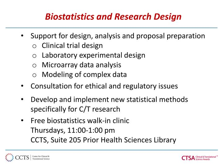 Biostatistics and Research Design