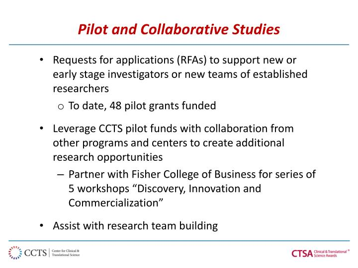 Pilot and Collaborative Studies