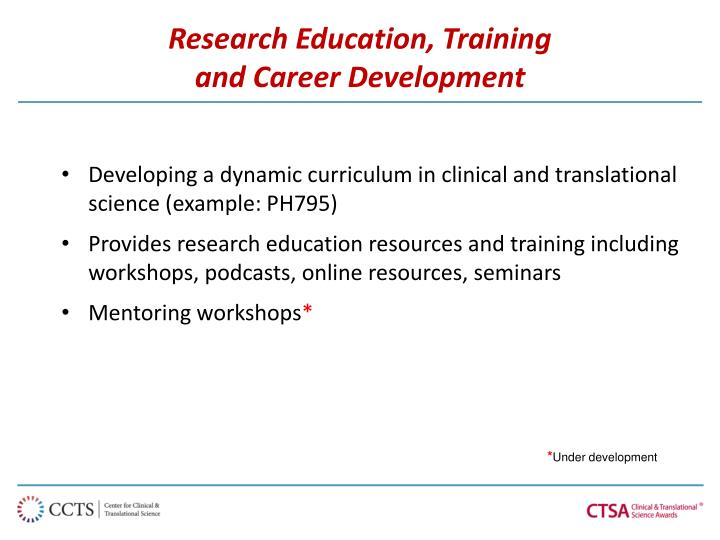 Research Education, Training