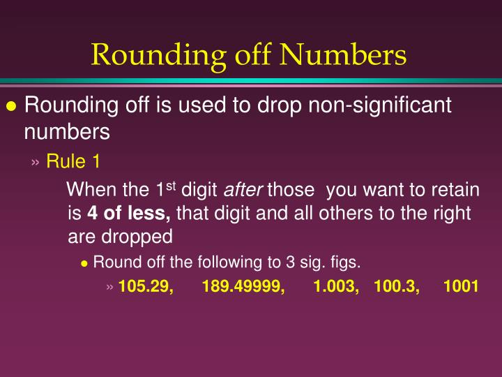 Rounding off Numbers