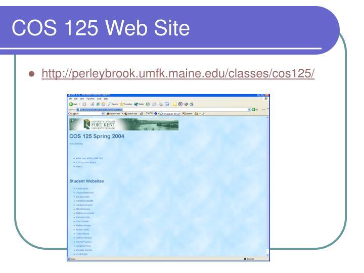 COS 125 Web Site
