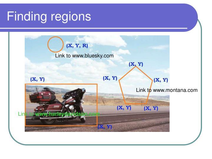 Finding regions