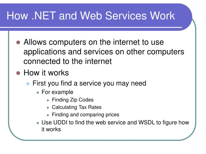 How .NET and Web Services Work