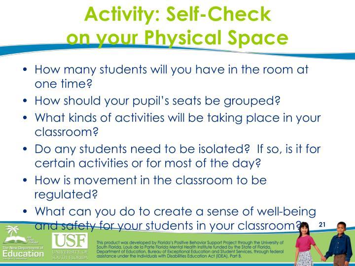 Activity: Self-Check
