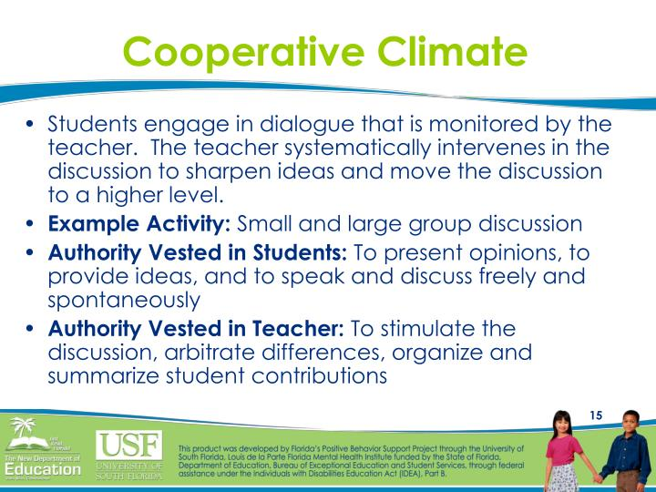 Cooperative Climate
