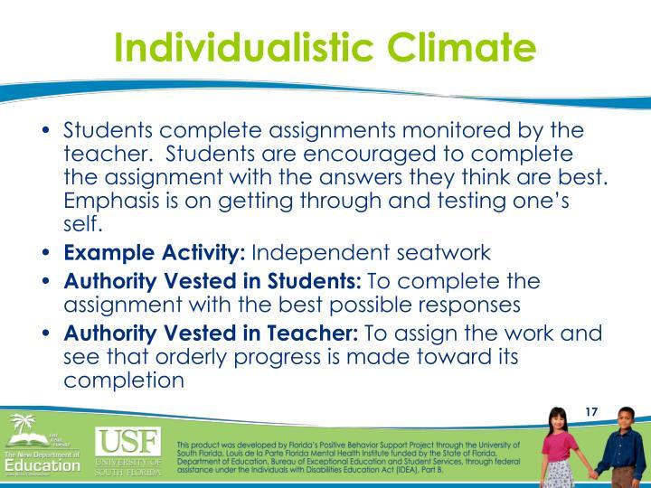 Individualistic Climate