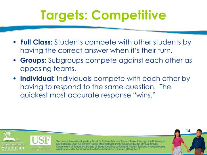 Targets: Competitive