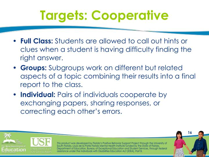 Targets: Cooperative